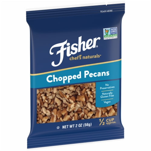 Fisher Chef's Naturals Chopped Pecans Perspective: left