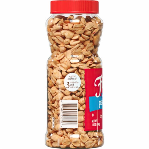 Fisher Dry Roasted Sea Salt Peanuts Perspective: left