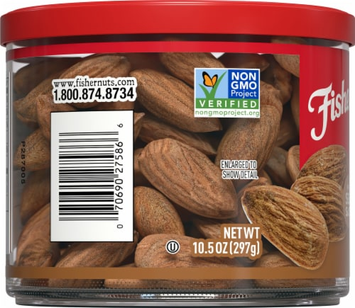 Fisher Oven Roasted Never Fried Almonds with Sea Salt Perspective: left