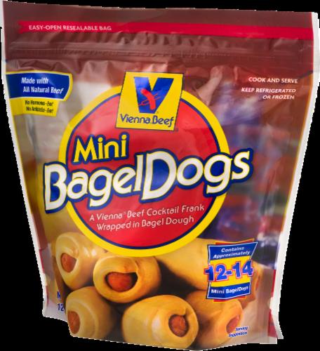 Vienna Beef Mini Bagel Dogs Perspective: left