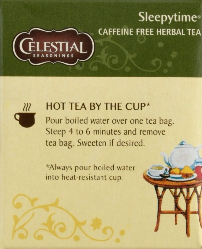 Celestial Seasonings Sleepytime Herbal Tea Bags Perspective: left