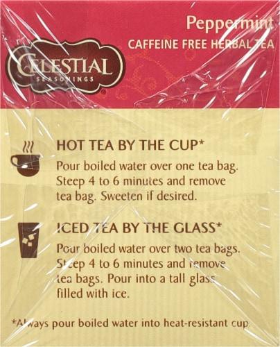 Celestial Seasonings Peppermint Herbal Tea Bags Perspective: left