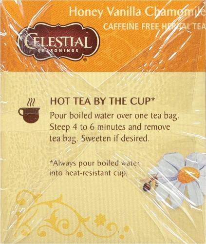 Celestial Seasonings  Honey Vanilla Chamomile Herbal Tea Bags Perspective: left