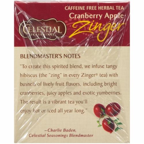 Celestial Seasonings Cranberry Apple Zinger Tea Bags Perspective: left