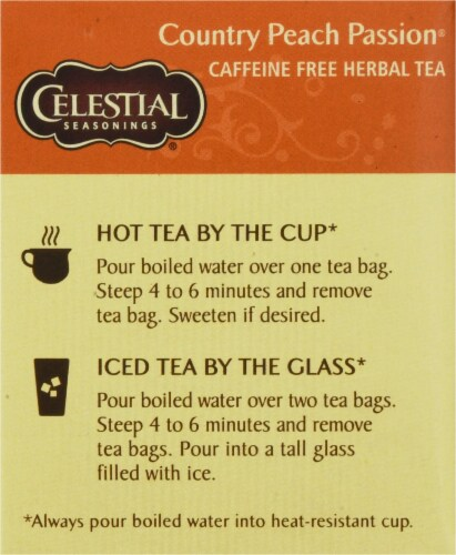 Celestial Seasonings Country Peach Passion Herbal Tea Perspective: left