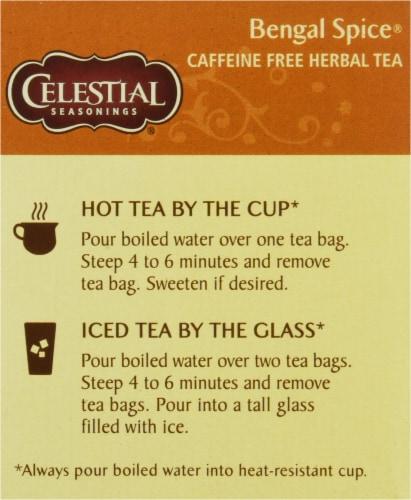 Celestial Seasonings Bengal Spice Herbal Tea Bags Perspective: left
