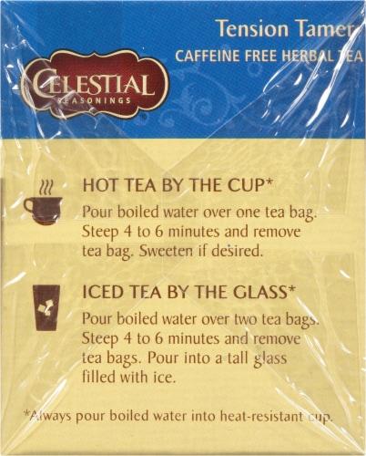 Celestial Seasonings Tension Tamer Herbal Tea Perspective: left