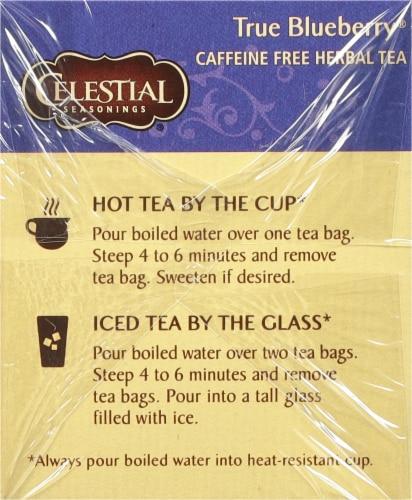 Celestial Seasonings True Blueberry Herbal Tea Bags Perspective: left