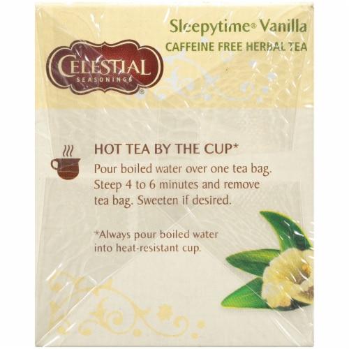 Celestial Seasonings Sleepytime Vanilla Herbal Tea Bags Perspective: left
