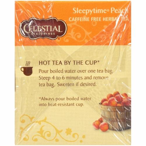 Celestial Seasonings Sleepytime Peach Herbal Tea Bags Perspective: left