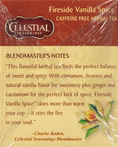 Celestial Seasonings Fireside Vanilla Spice Herbal Tea Bags Perspective: left