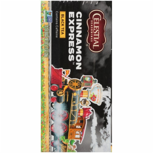 Celestial Seasonings Cinnamon Express Black Tea Bags Perspective: left