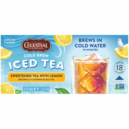 Celestial Seasonings® Sweetened with Lemon Cold Brew Iced Tea Perspective: left