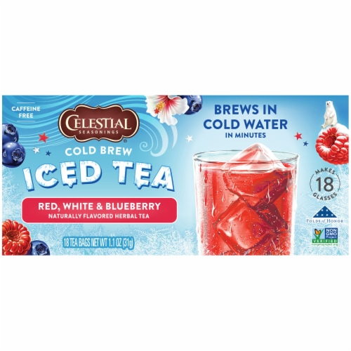 Celestial Seasonings® Red White and Blueberry Cold Brew Iced Tea Perspective: left
