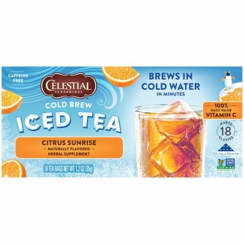 Celestial Seasonings® Citrus Sunrise Cold Brew Iced Tea Perspective: left