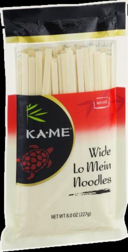 Ka-Me Wide Lo Mein Noodles Perspective: left