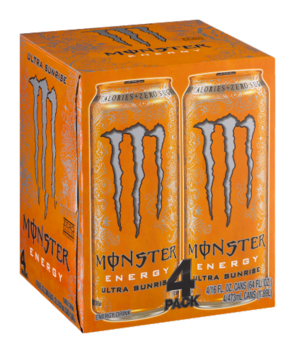 Monster Ultra Sunrise Energy Drink Perspective: left