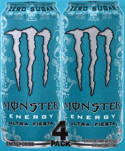 Monster Ultra Fiesta Energy Drink Perspective: left