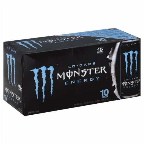 Monster Lo-Carb Energy Drink Perspective: left