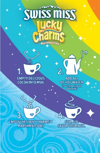 Swiss Miss® Milk Chocolate Hot Cocoa Mix with Lucky Charms Marshmallows Perspective: left