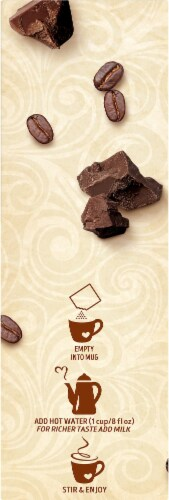 Swiss Miss Cafe Blends Mocha Flavored Hot Cocoa Coffee Mix Perspective: left