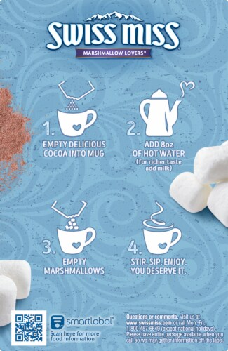 Swiss Miss® Marshmallow Lovers Hot Cocoa Mix Perspective: left