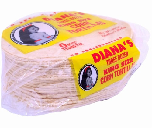 Diana's King Size Three Dozen Yellow Corn Tortillas Perspective: left