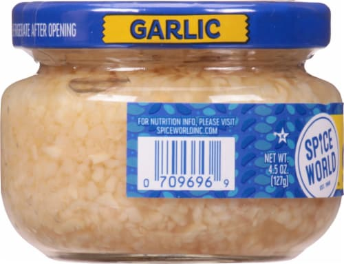 Spice World Minced Garlic Perspective: left