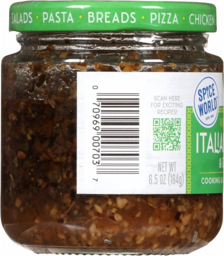 Spice World™ Viva Italian Herb & Garlic Seasoning Blend Perspective: left