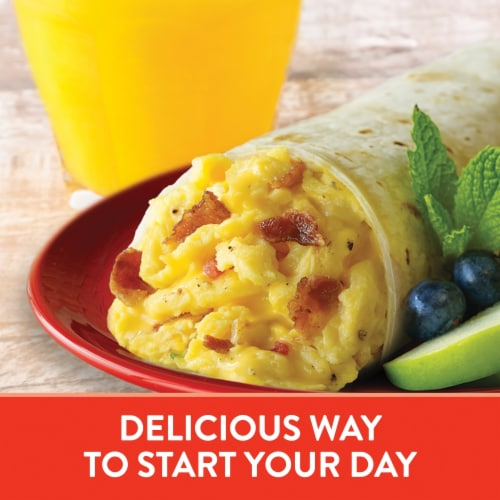 El Monterey Egg Applewood Smoked Bacon & Cheese Burritos 8 Count Perspective: left