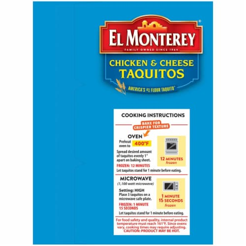 El Monterey Chicken & Cheese Flour Taquitos Value Pack Perspective: left