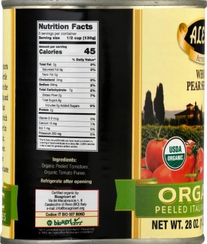 Alessi Whole Pear Shaped Organic Peeled Italian Tomatoes Perspective: left