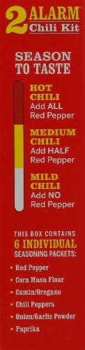 Wick Fowler's Texas Style 2 Alarm Chili Kit Perspective: left