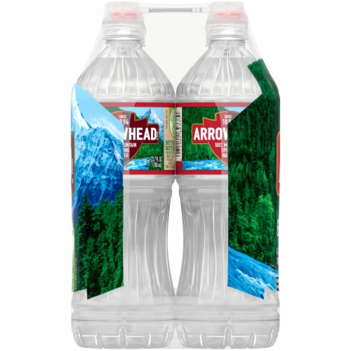 Arrowhead Mountain Spring Bottled Water Perspective: left