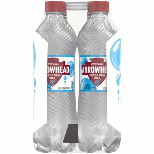 Arrowhead Simply Bubbles Sparkling Mountain Spring Water Perspective: left