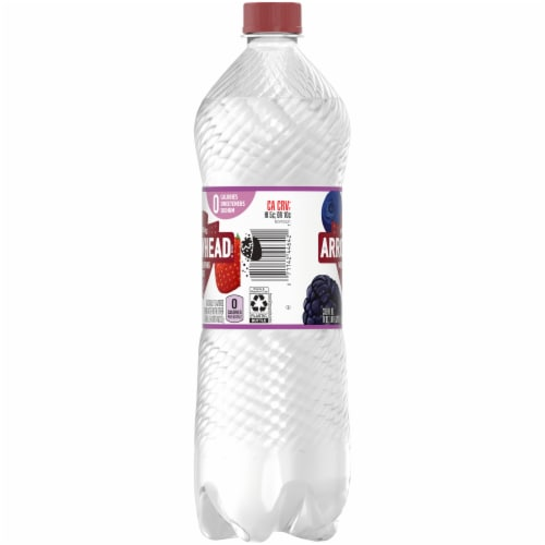 Arrowhead Triple Berry Sparkling Mountain Spring Water Perspective: left