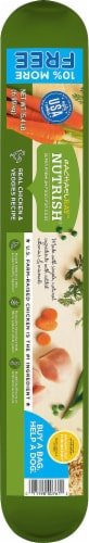 Rachael Ray Nutrish Real Chicken & Veggies Recipe Dry Dog Food Perspective: left