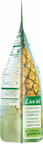 Dole Tropical Gold Frozen Pineapple Chunks Perspective: left
