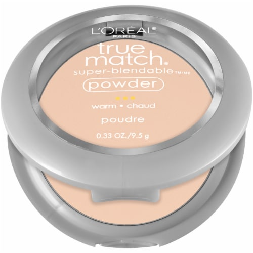 L'Oreal Paris True Match W1 Porcelain Super-Blendable Powder Perspective: left