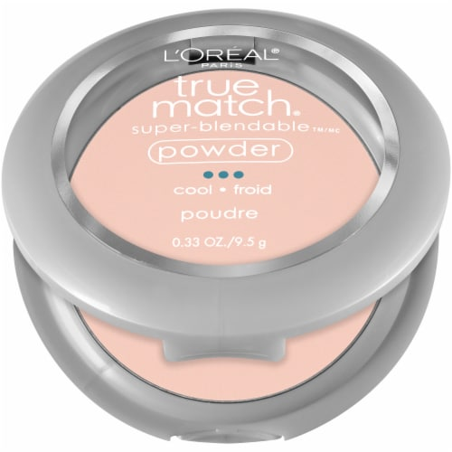 L'Oreal Paris True Match Alabaster Super Blendable Powder Perspective: left