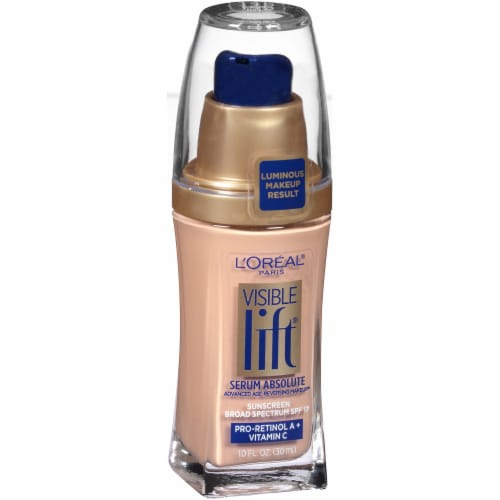 L'Oreal Paris Visible Lift Nude Beige Serum Absolute Foundation Perspective: left