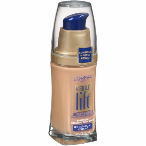 L'Oreal Paris Visible Lift Natural Buff Serum Absolute Foundation Perspective: left