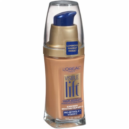 L'Oreal Paris Visible Lift Classic Tan Serum Absolute Foundation Perspective: left