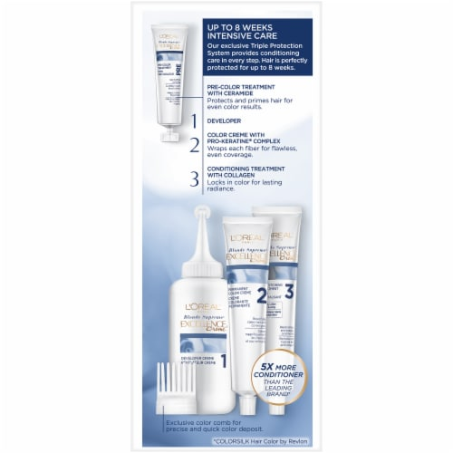 L'Oreal Paris Excellence Creme 02 High-Lift Extra Light Natural Blonde Hair Color Kit Perspective: left