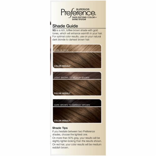 L'Oreal Paris Superior Preference Warmer Medium Golden Brown 5G Permanent Hair Color Perspective: left