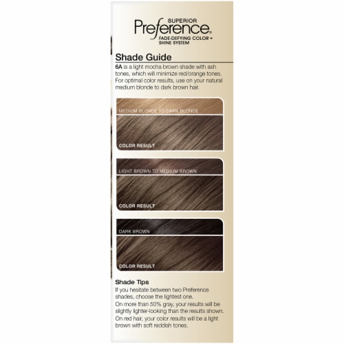 L'Oreal Paris Superior Preference Fade-Defying Shine Permanent Hair Color 6A Light Ash Brown Perspective: left