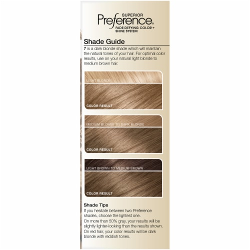 L'Oreal Paris Superior Preference Dark Blonde 7 Hair Color Perspective: left