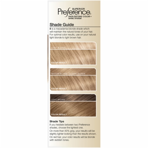 L'Oreal Paris Superior Preference Medium Blonde 8 Hair Color Perspective: left