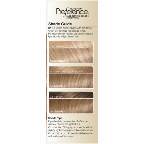 L'Oreal Paris Superior Preference 8A Ash Blonde Permanent Hair Color Kit Perspective: left