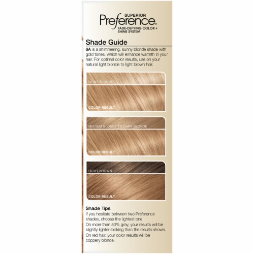 L'Oreal Paris Superior Preference Golden Blonde 8G Permanent Hair Color Perspective: left